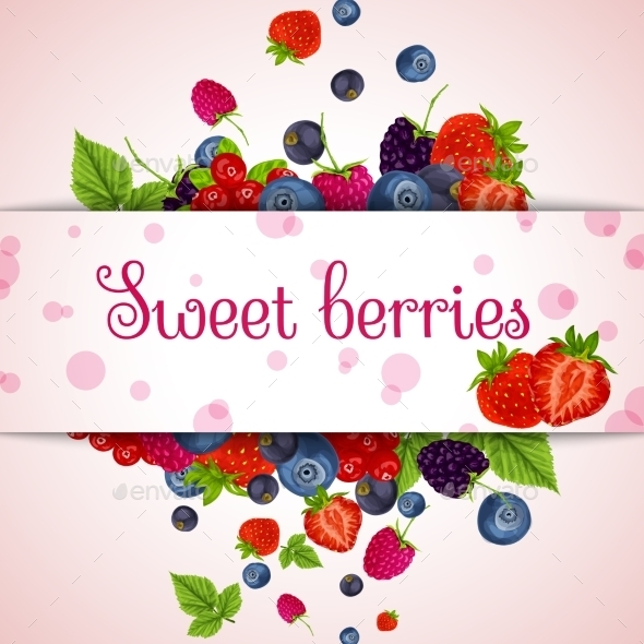 GraphicRiver Fresh Berries Card 8941481