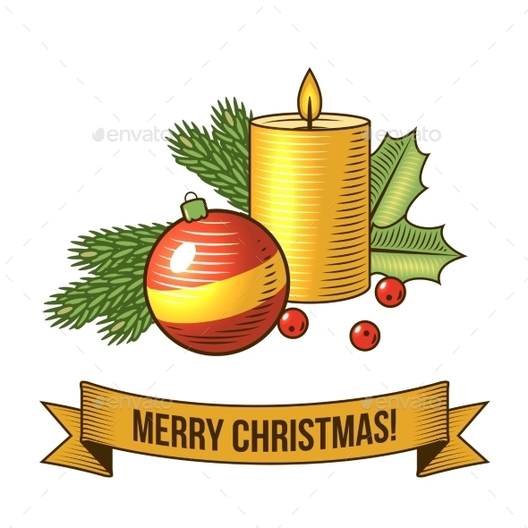 GraphicRiver Christmas Candle Icon 8941491