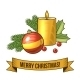 Christmas Candle Icon - GraphicRiver Item for Sale