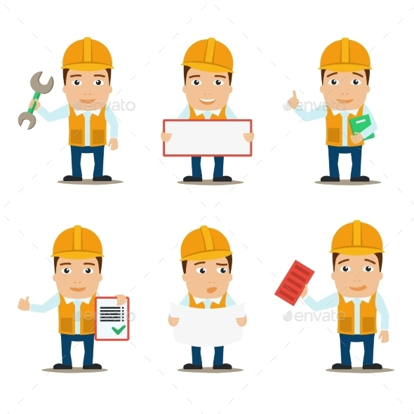 GraphicRiver Builder Characters Set 8941504