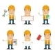 Builder Characters Set - GraphicRiver Item for Sale