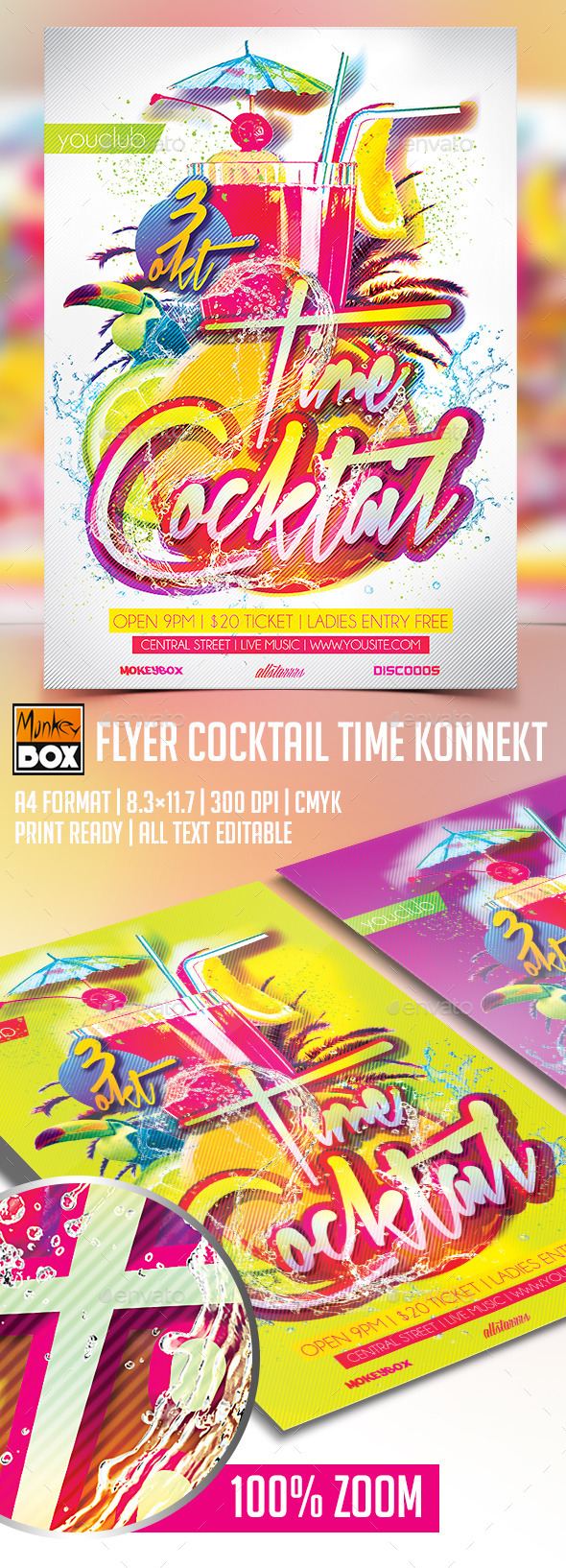 GraphicRiver Flyer Cocktail Time Konnekt 8933568