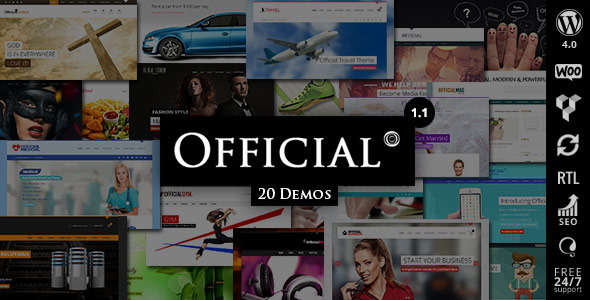 WORDPRESS 4.0 and WOOCOMMERCE 2.2.x COMPATIBLE Updated on 19th Sep 2014 (v1.1) Official is a Clean and Corporate Friendly multi-purpose WordPress theme, It&rsq