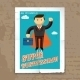 Super Businessman with Cape and Briefcase Graphic - GraphicRiver Item for Sale
