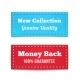 New Collection and Money Back Tag Badges - GraphicRiver Item for Sale
