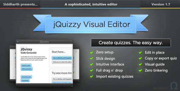 CodeCanyon jQuizzy Classic Interactive Visual Editor 8941679