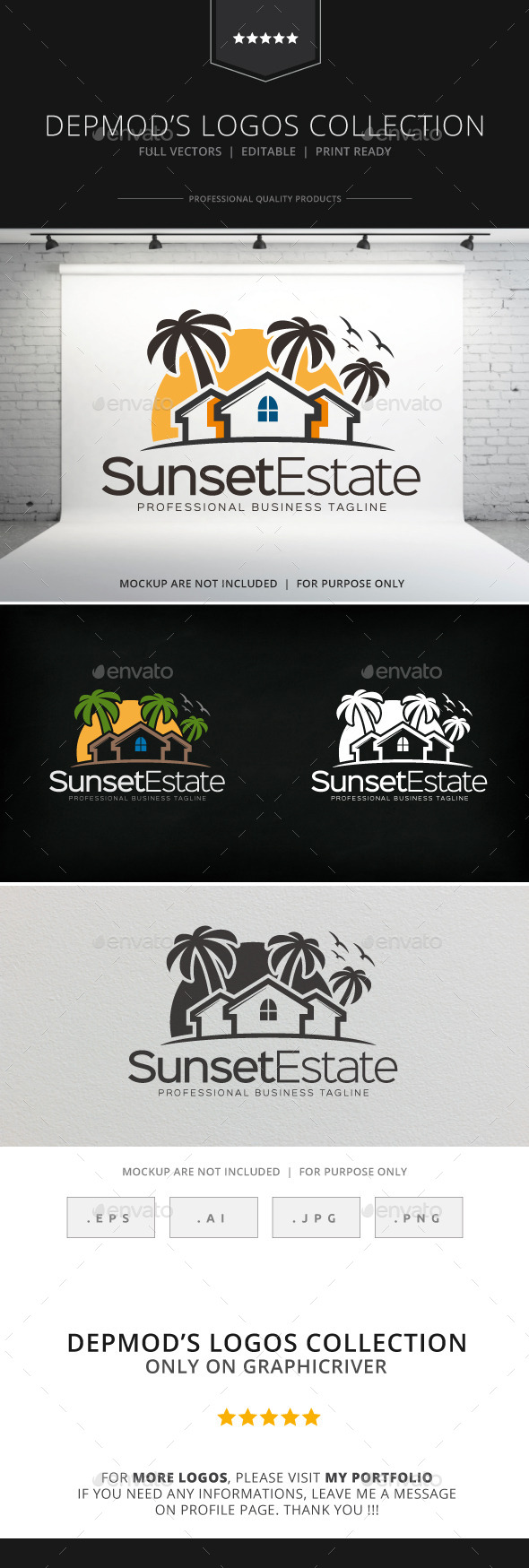 GraphicRiver Sunset Estate Logo 8941681