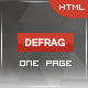 Defrag - One Page Personal - Portfolio HTML - ThemeForest Item for Sale