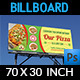 Pizza Restaurant Billboard Template - GraphicRiver Item for Sale