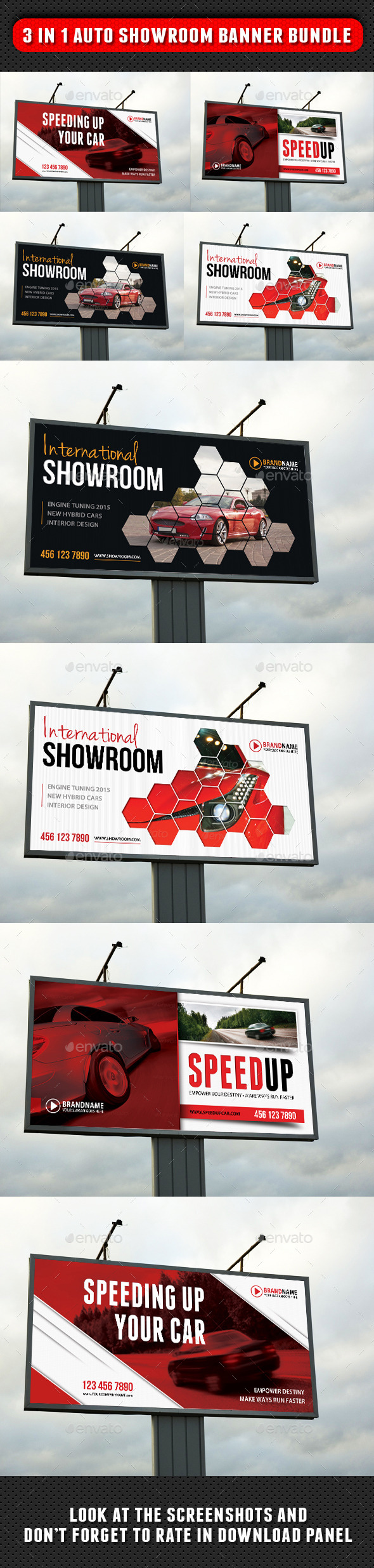 GraphicRiver 3 in 1 Auto Showroom Outdoor Banner Bundle 8942844