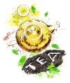 Watercolor Image Of  Tea Pot - PhotoDune Item for Sale