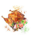Watercolor Image Of  Roasted Turkey - PhotoDune Item for Sale