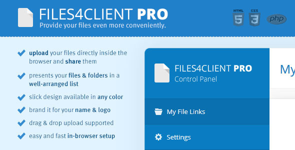 CodeCanyon Files 4 Client Pro Easy File Transfer 8916122