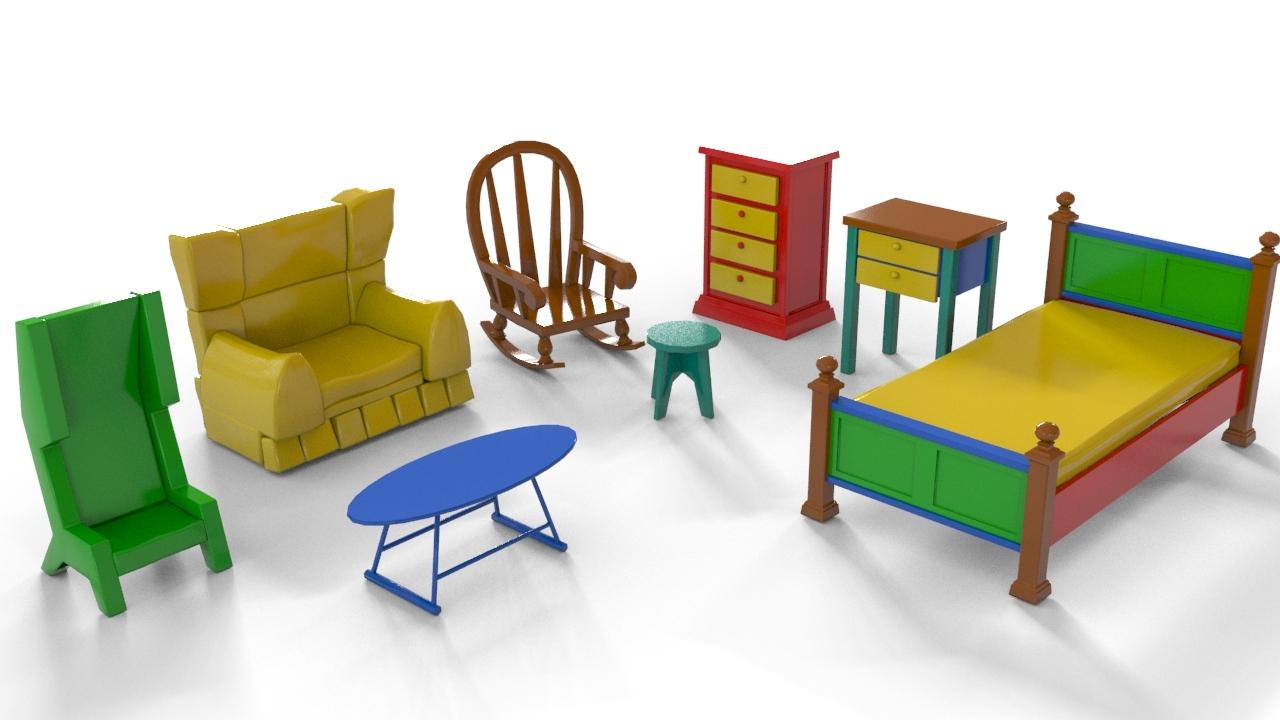 Cartoon furniture by teddpermana 3docean - Image furniture ...
