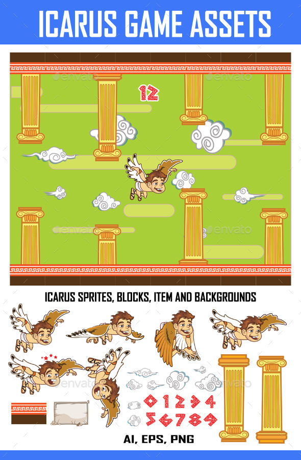 GraphicRiver Icarus Game Kit 8943363