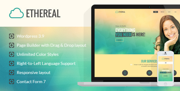 Ethereal - Multipurpose Parallax Wordpress Theme - Corporate WordPress