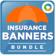 Insurance Web Banner Design Bundle - 3 sets