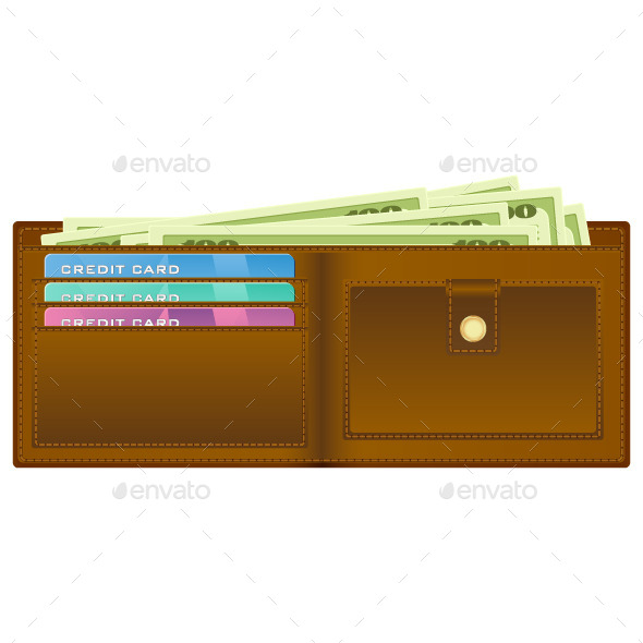 GraphicRiver Wallet with Money 8943766