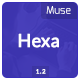 Hexa - OnePage Creative Muse Template - ThemeForest Item for Sale