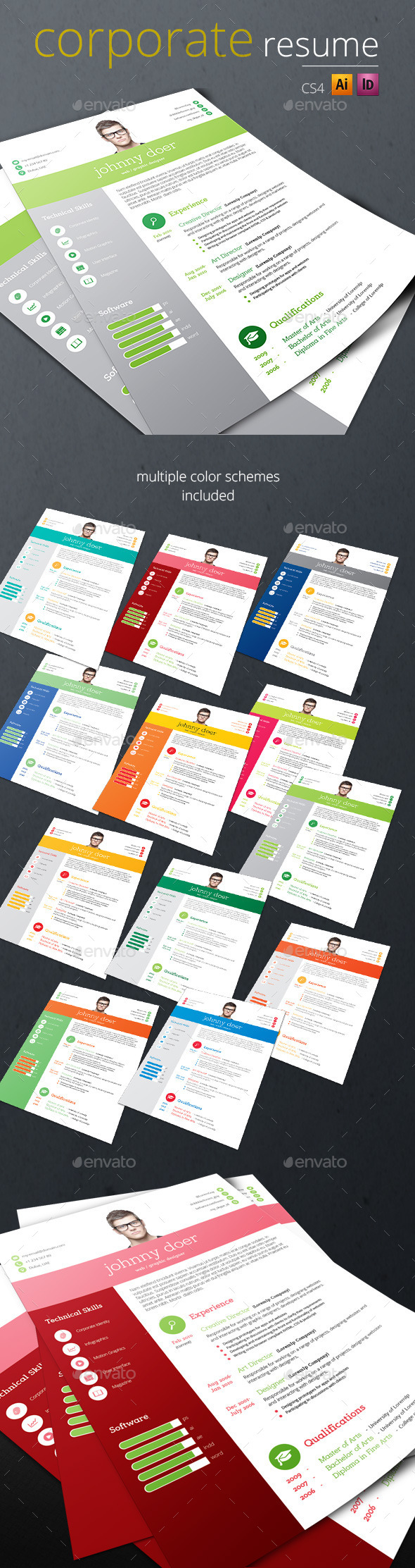 GraphicRiver Corporate Resume 8943904