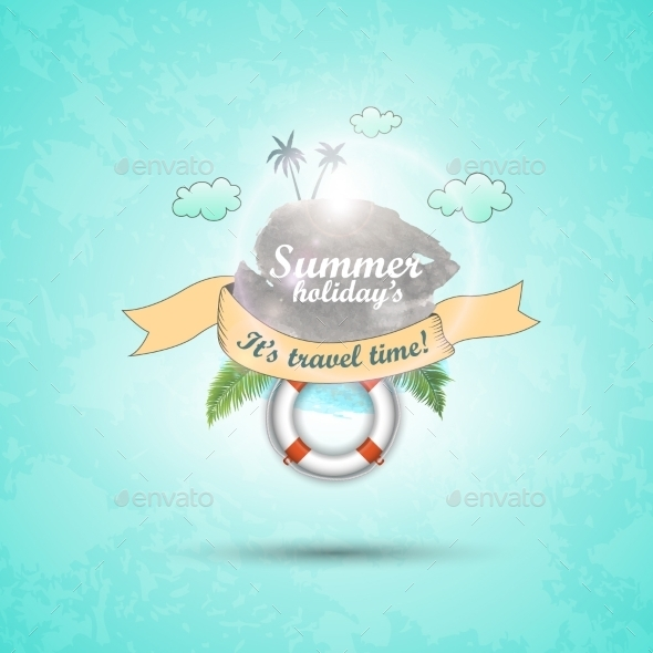 GraphicRiver Abstract Summer Background Vector Cartoon 8944040