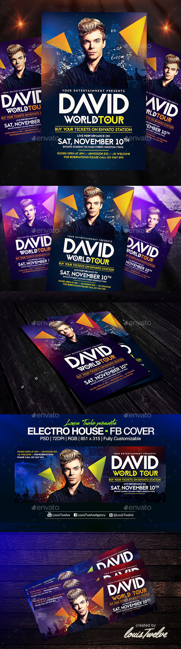GraphicRiver Electro House Flyer Template & FB Cover 8934948
