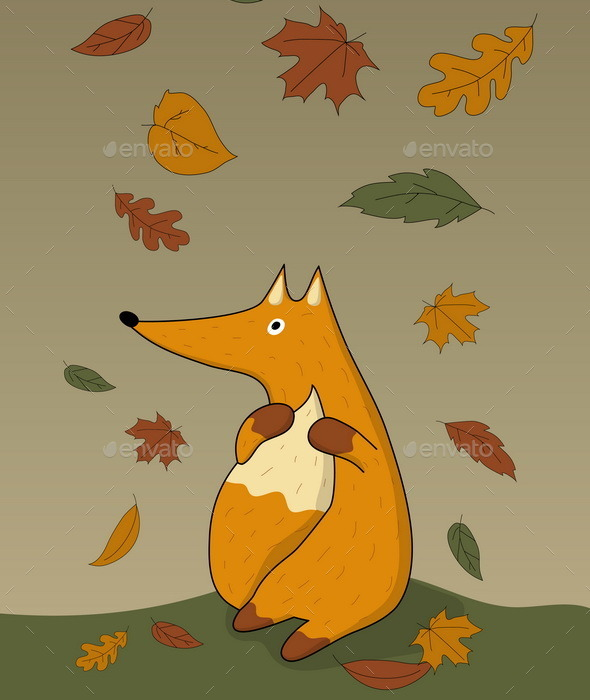 GraphicRiver Autumn Fox 8944158