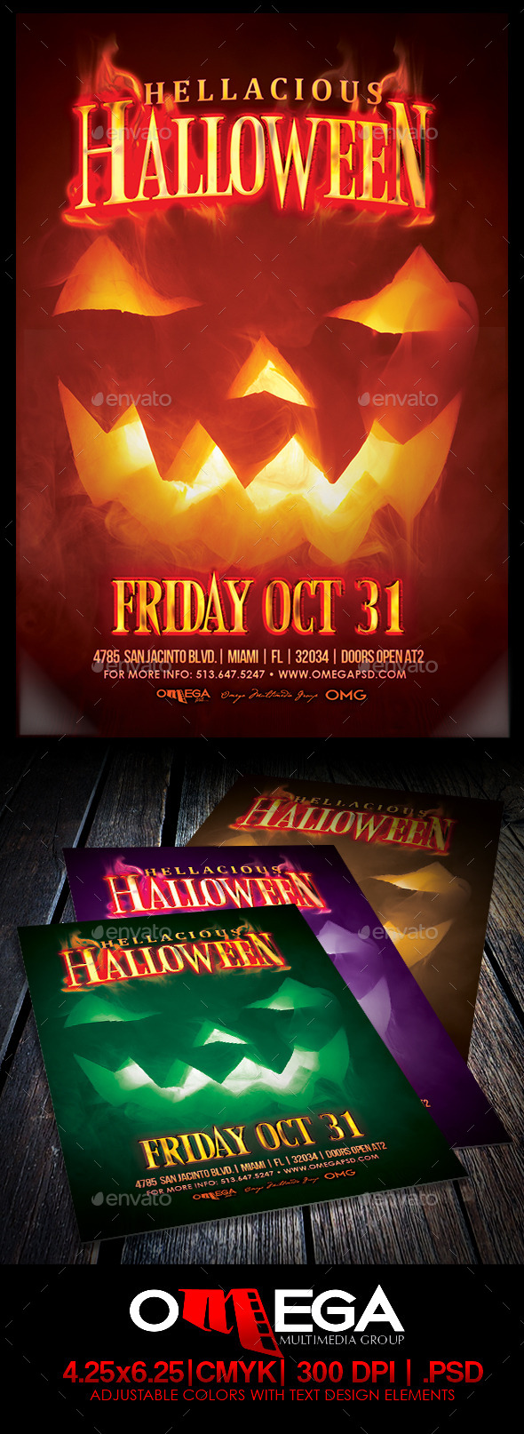 GraphicRiver Hellaciuos Halloween 8944195