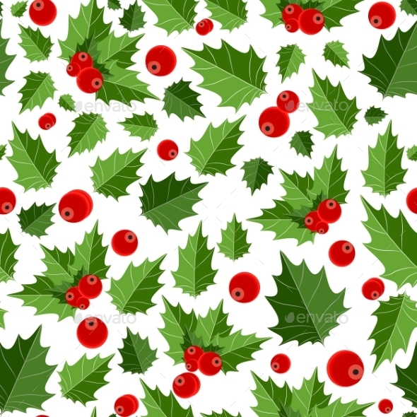 GraphicRiver Abstract Beauty Christmas Berry Seamless Pattern 8944207