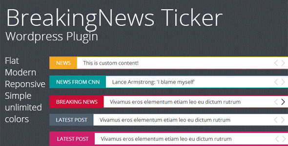 CodeCanyon Breaking News Ticker Wordpress Plugin 8944255