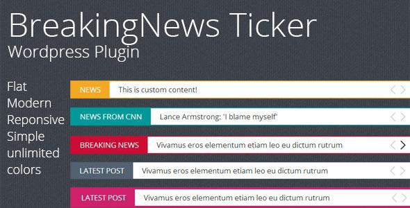 CodeCanyon Breaking News Ticker Wordpress Plugin 8944255