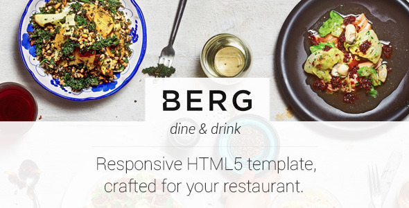Berg - Restaurant Dedicated HTML5 Template - Restaurants & Cafes Entertainment