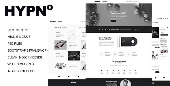ThemeForest Hypno Modern Responsive HTML5 Template 8922321