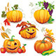 Autumn Still Life with Pumpkins - GraphicRiver Item for Sale