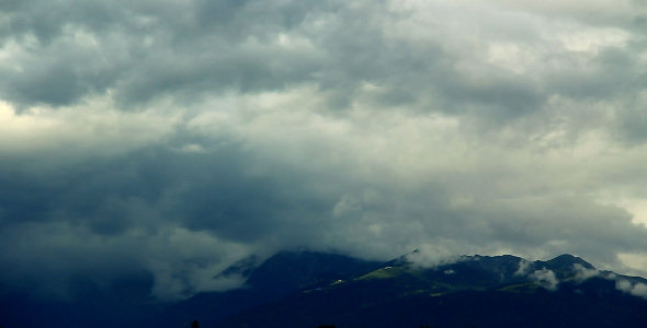Stormy Clouds in the Mountains