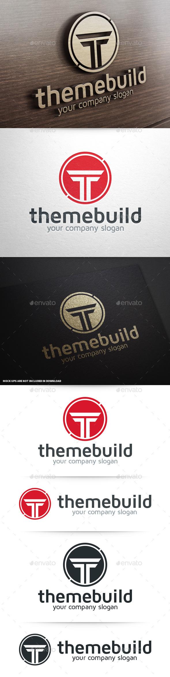 GraphicRiver ThemeBuild Letter T Logo 8944721