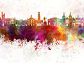 Aberdeen skyline in watercolor background - PhotoDune Item for Sale