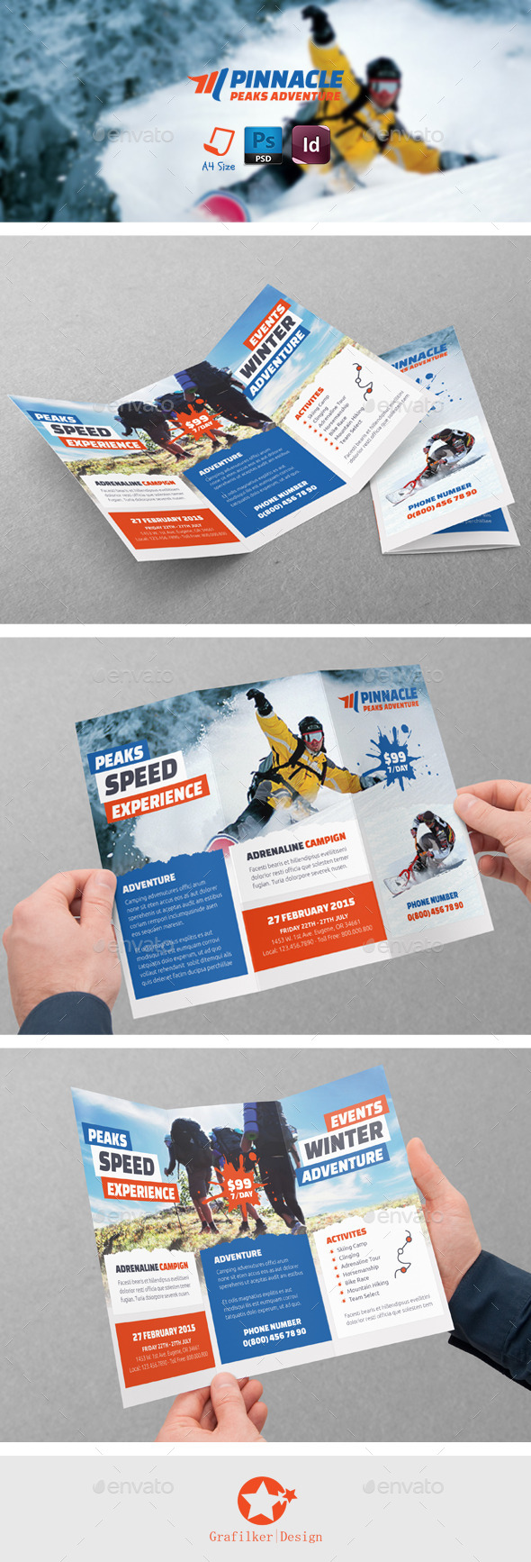 GraphicRiver Adventure Tri-Fold Templates 8944825