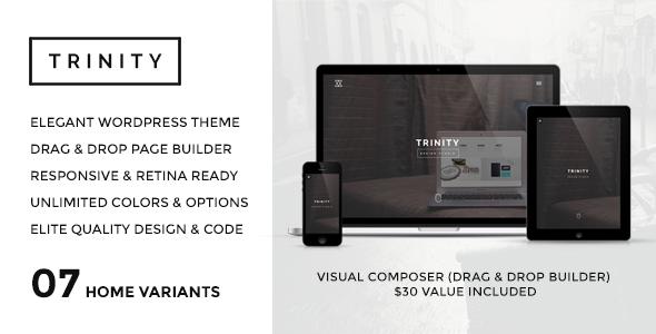 TRINITY - WordPress Responsive One Page Parallax - Portfolio Creative