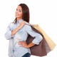 Shopaholic adult lady with her paper bags - PhotoDune Item for Sale