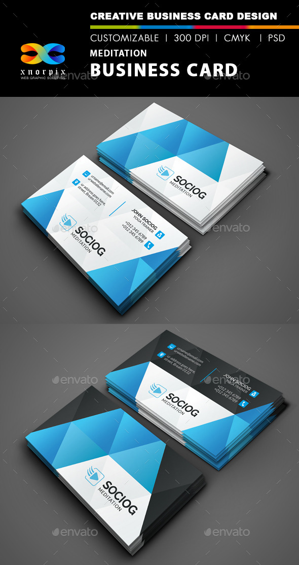 GraphicRiver Meditation Business Card 8945287