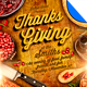 Rustic Thanksgiving Dinner Flyer Template - GraphicRiver Item for Sale