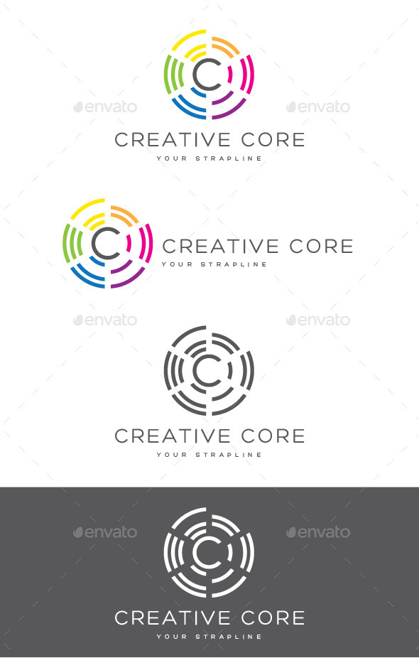 GraphicRiver Creative Core Letter C Logo 8945414