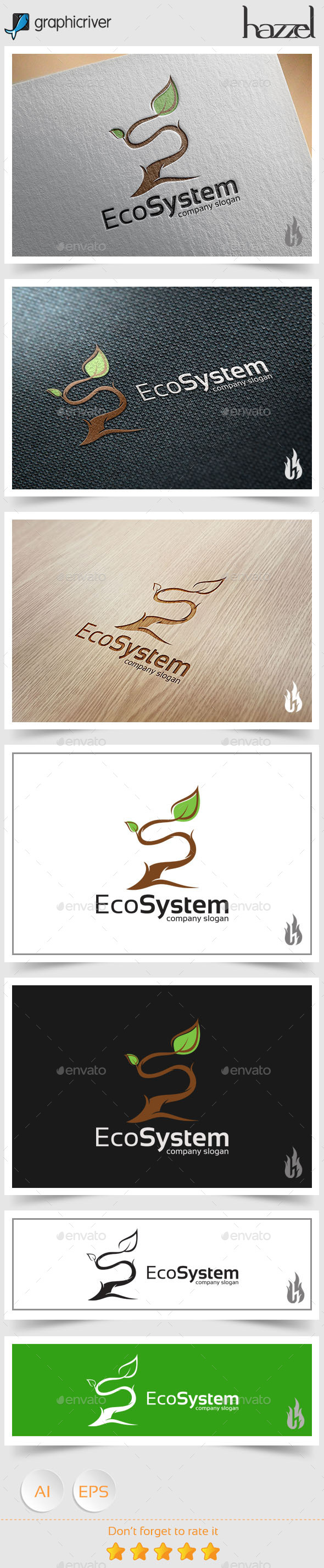 GraphicRiver Eco System Logo 8945436