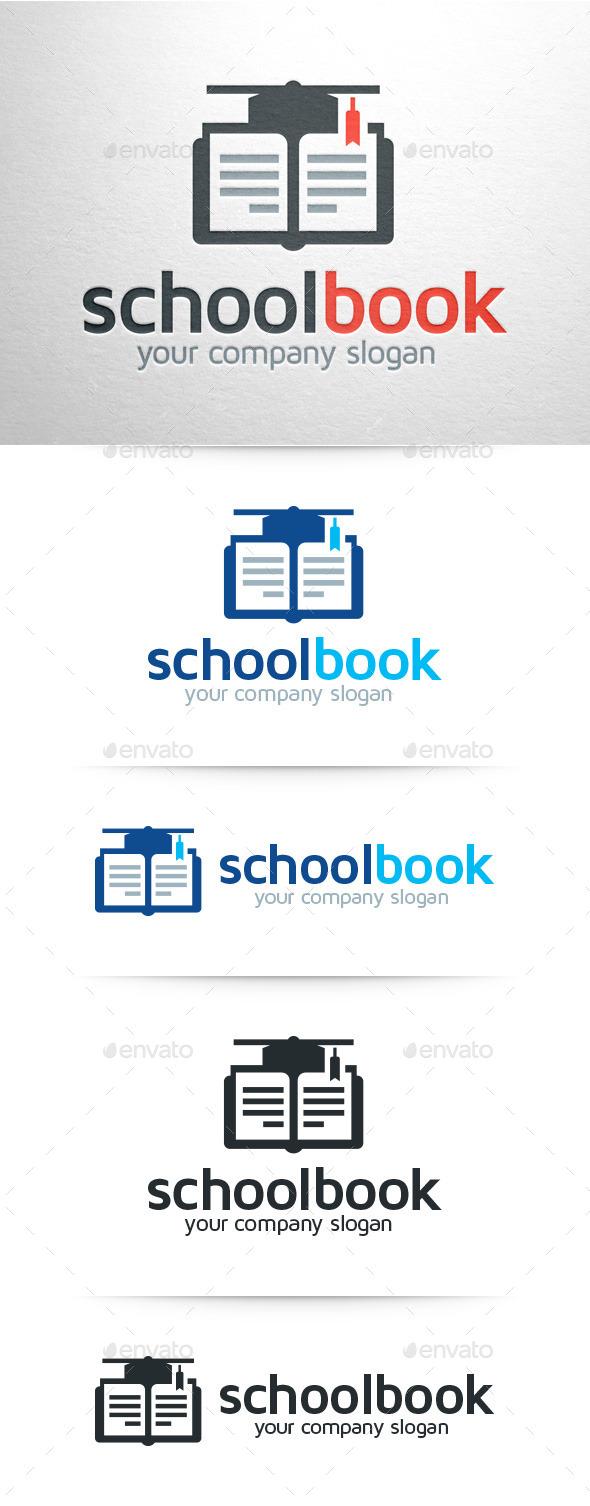 GraphicRiver School Book Logo Template 8945439