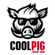 Cool Pig Logo Template