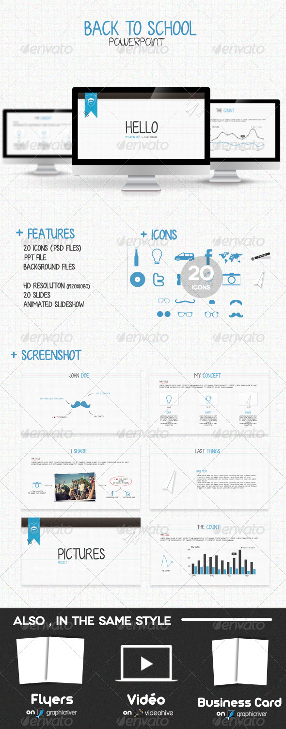 GraphicRiver Back To School Powerpoint 913164