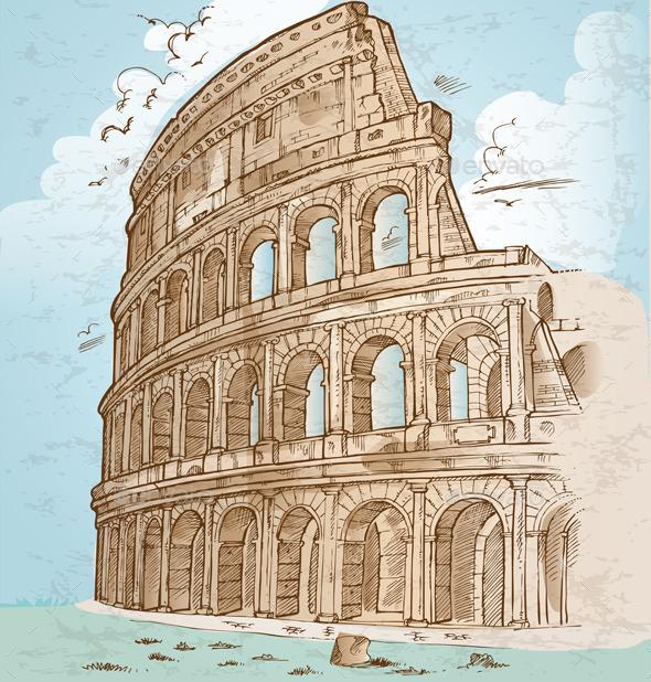 GraphicRiver Colosseum Hand Draw 8946065