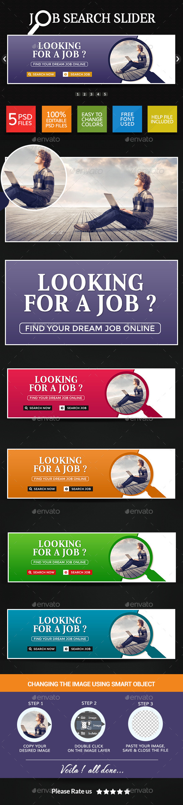 GraphicRiver Job Search Sliders 8946069