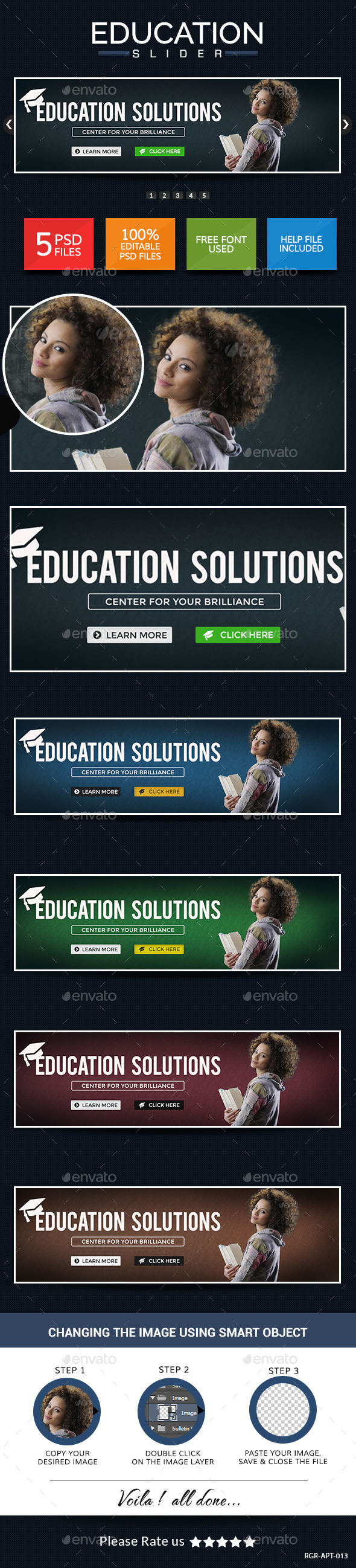 GraphicRiver Education Sliders 8946093